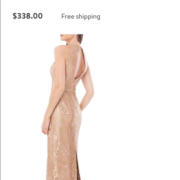 JS Collections Dresses | Metallic Embroidered Halter Gown | Poshmark